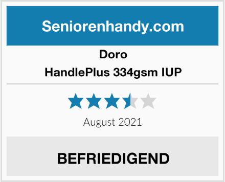 Doro HandlePlus 334gsm IUP Test