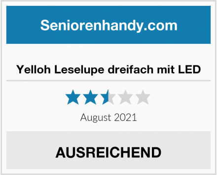 No Name Yelloh Leselupe dreifach mit LED Test