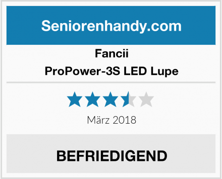 Fancii ProPower-3S LED Lupe Test