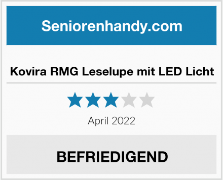 No Name Kovira RMG Leselupe mit LED Licht Test