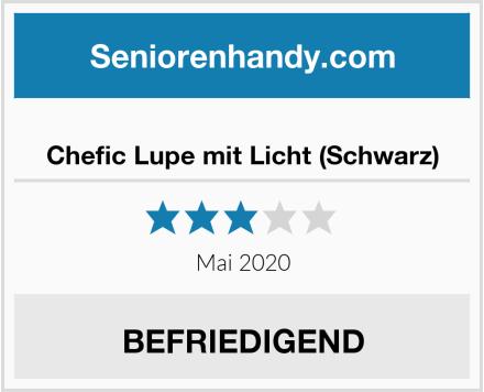 No Name Chefic Lupe mit Licht (Schwarz) Test