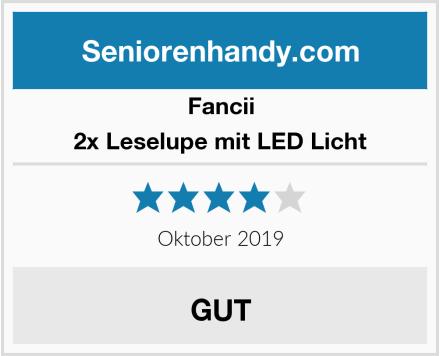 Fancii 2x Leselupe mit LED Licht Test