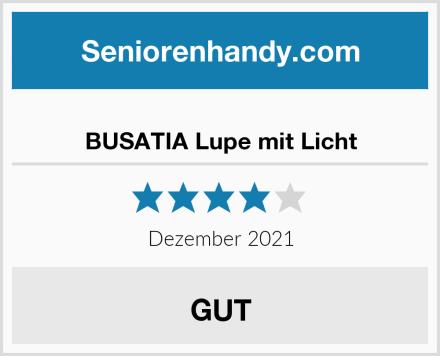 BUSATIA Lupe mit Licht Test