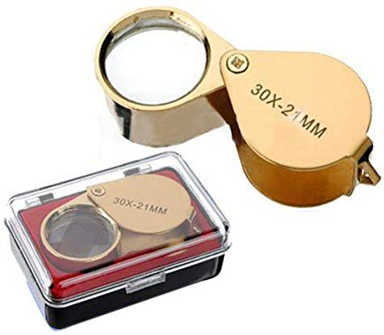 No Name 30x Fach faltbar Juwelier Uhr Lupe